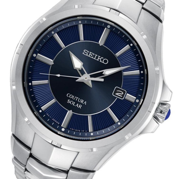 Seiko Coutura Stainless Steel Solar Powered Men's Watch - SNE511P