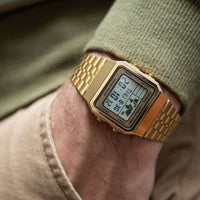 Casio Gold Retro World Time Unisex Digital Watch - A500WGA-9DF