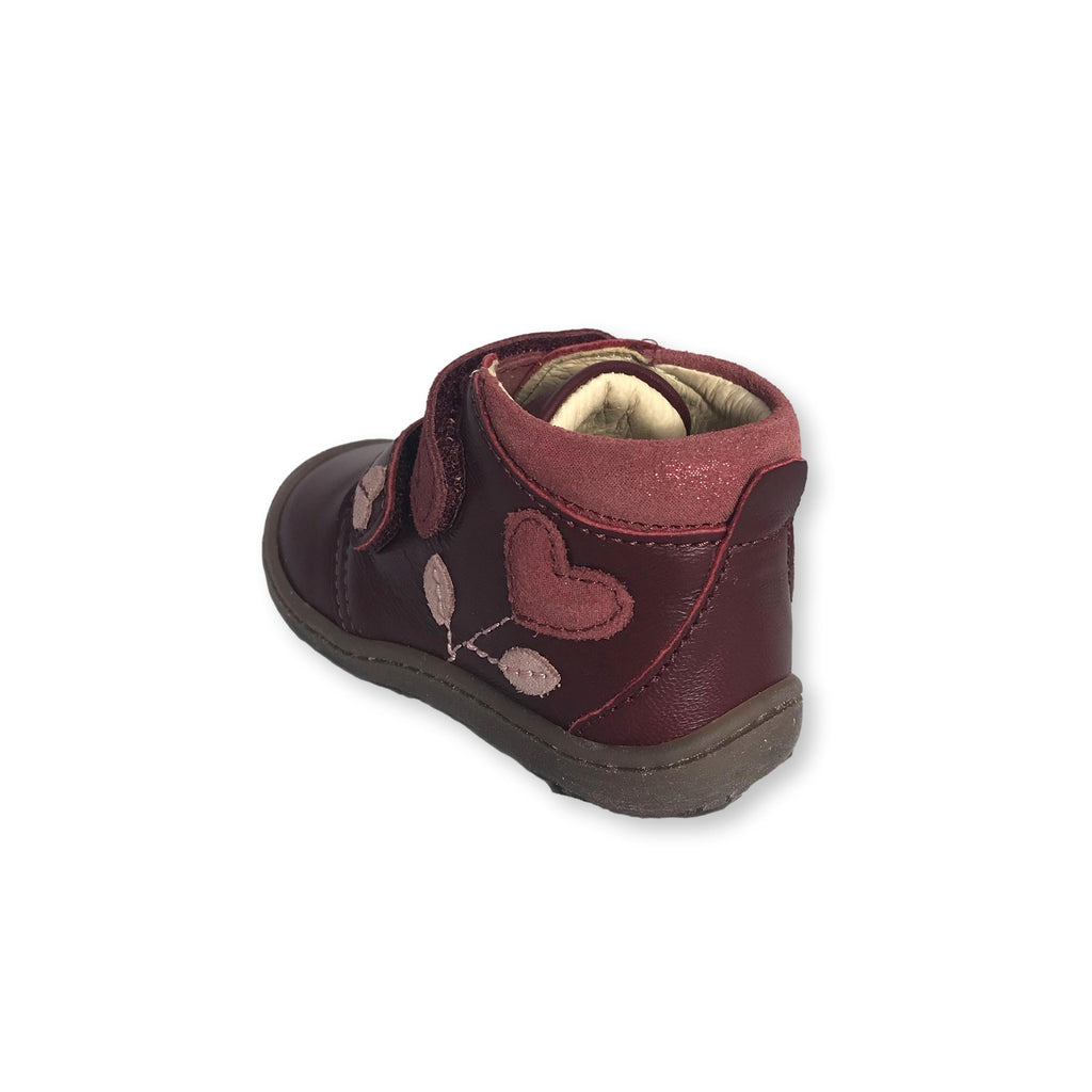 Lurchi Ibo Maroon Low-top Ankle Boots. From Cooshoo fitted children's shoes. Sole.