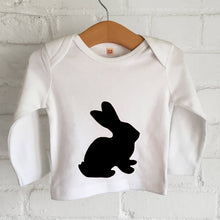 Easter bunny child's organic t shirt
