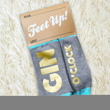 Gin O'Clock 'Feet Up' gold socks for men and women
