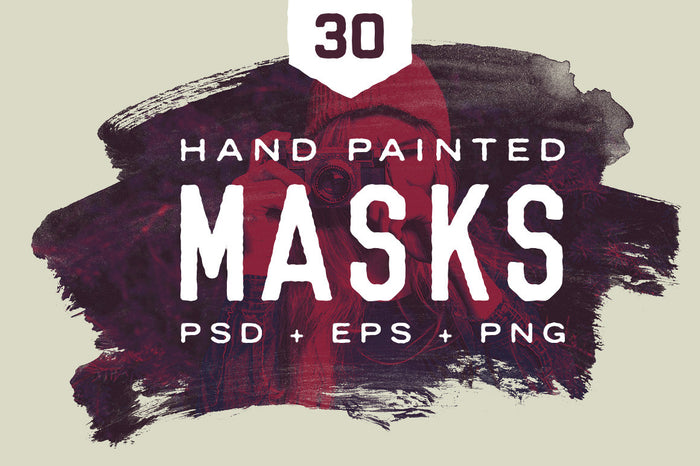 Hand brushed masks PSD