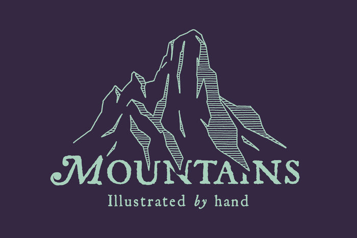 Mountain Ranges by Hand