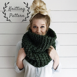 Knitting Pattern Chunky Cowl Knit Scarf Infinity Loop // The Eastport