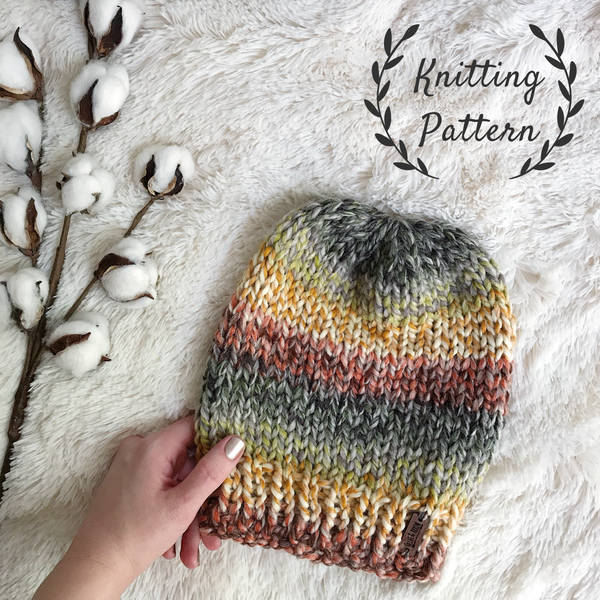 Knitting Pattern Adult Knit Hat Beanie // The Kennebec