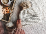 Knitting Pattern Adult Ribbed Double Brim Beanie // The Ogunquit