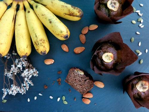 Singapore paleo vegan, eggless, gluten and dairy free banana muffins and nut free