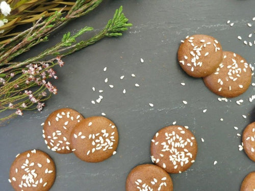 Singapore Vegan and Paleo, eggless gluten and dairy free crunchy cookies with almond sesame, no refined sugar