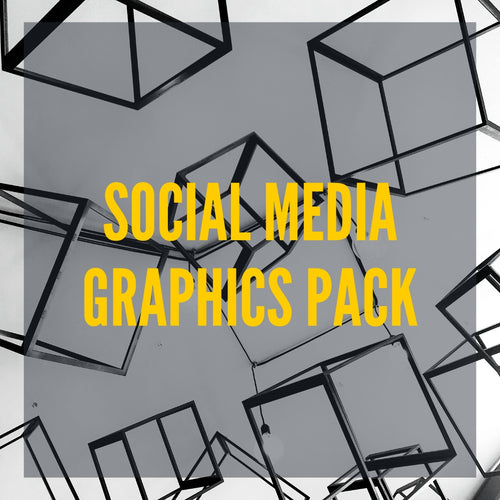 Image of social media graphics pack.