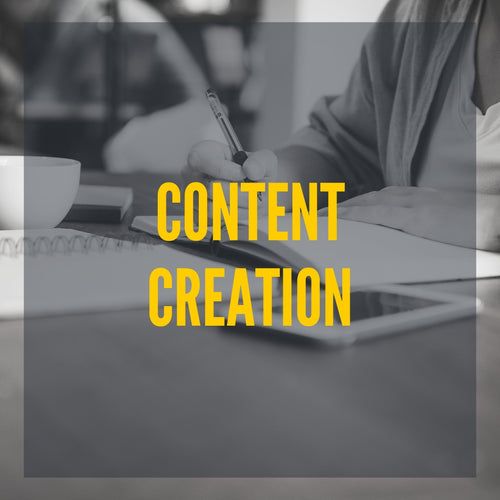 Image of content creation.