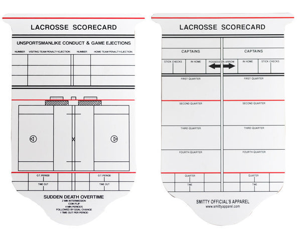 ACS540 - NEW Collegiate Lacrosse Reusable Game Card