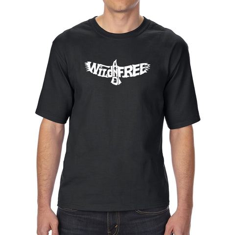 Men's Tall and Long Word Art T-shirt - CROSSED PISTOLS