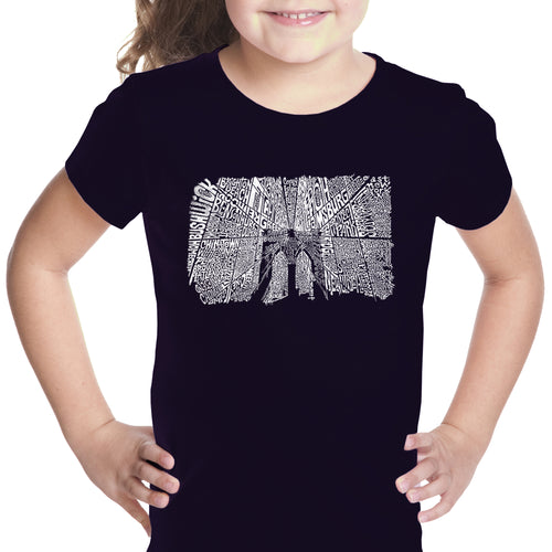 Girl's T-shirt - Brooklyn Bridge