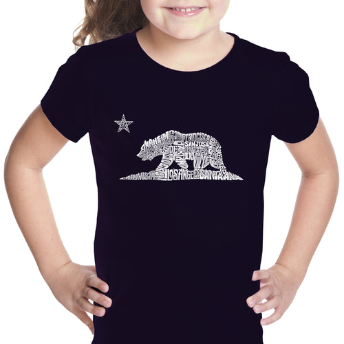 Girl's T-shirt - California Bear