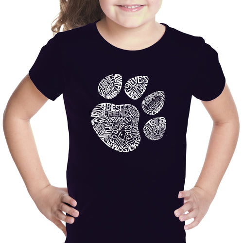 Girl's T-shirt - Cat Paw
