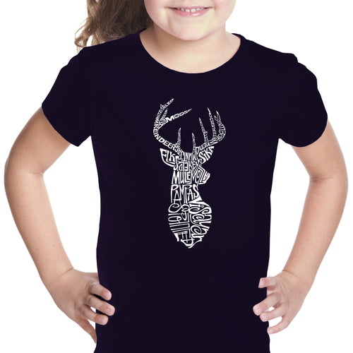 Girl's T-shirt - Types of Deer