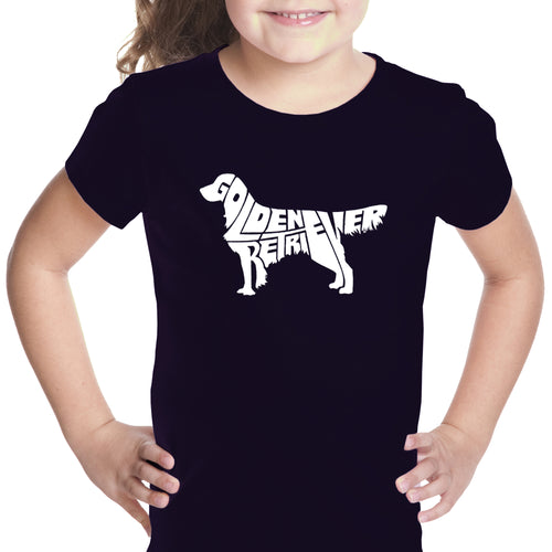 Girl's T-shirt - Golden Retreiver