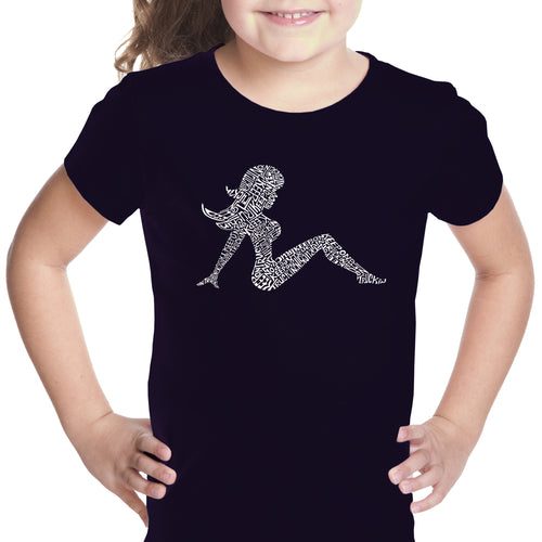 Girl's T-shirt - Mudflap Girl - Keep on Truckin