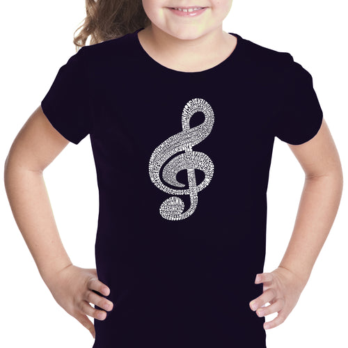 Girl's T-shirt - Music Note