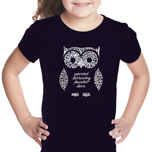Girl's T-shirt - Owl