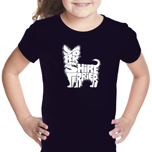 Girl's T-shirt - Yorkie