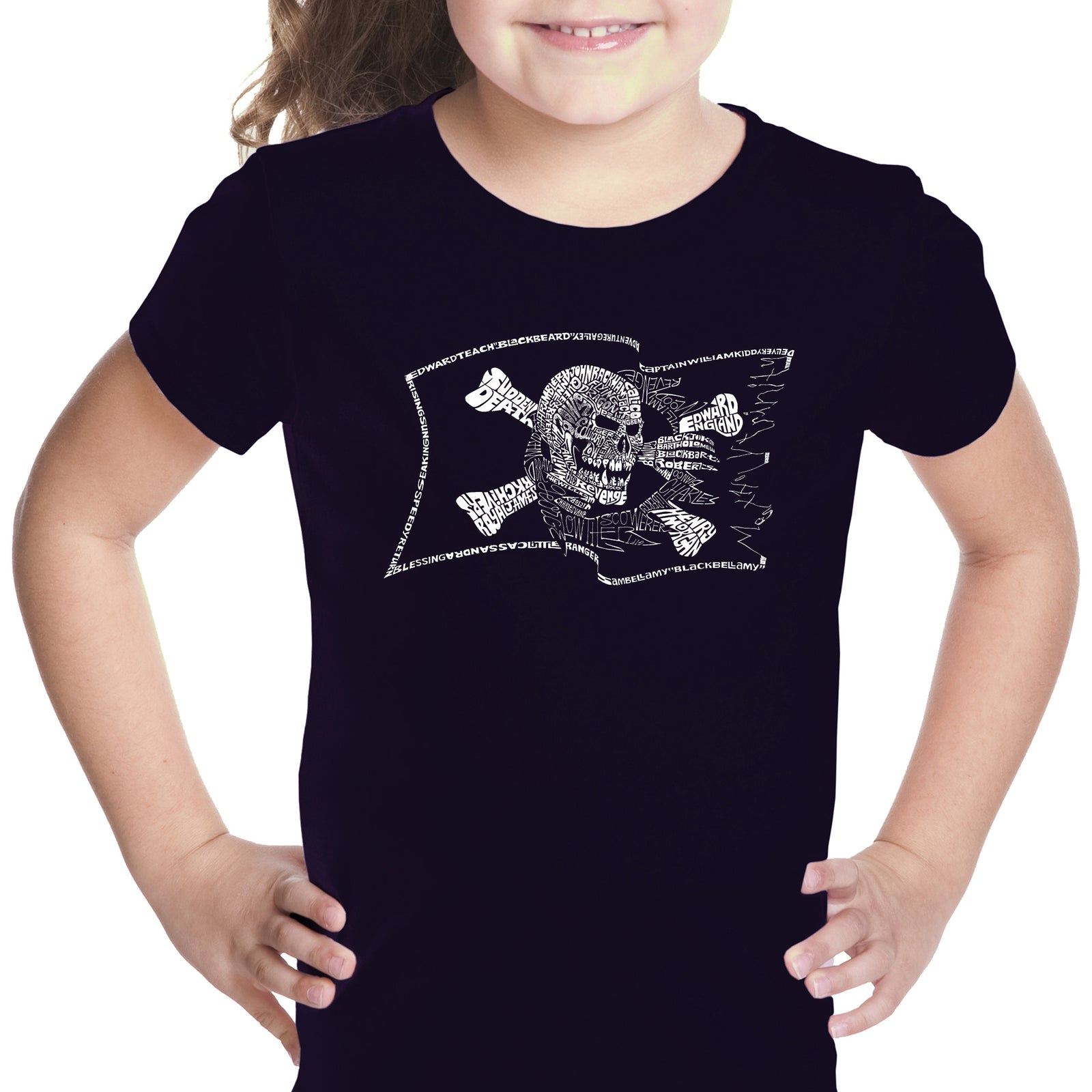 Girl's T-shirt - FAMOUS PIRATE CAPTAINS AND SHIPS