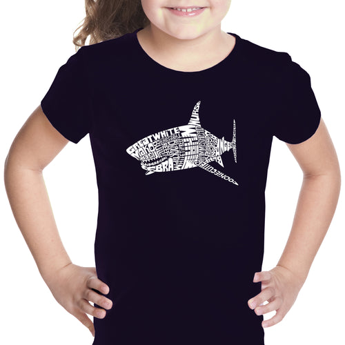 Girl's T-shirt - SPECIES OF SHARK