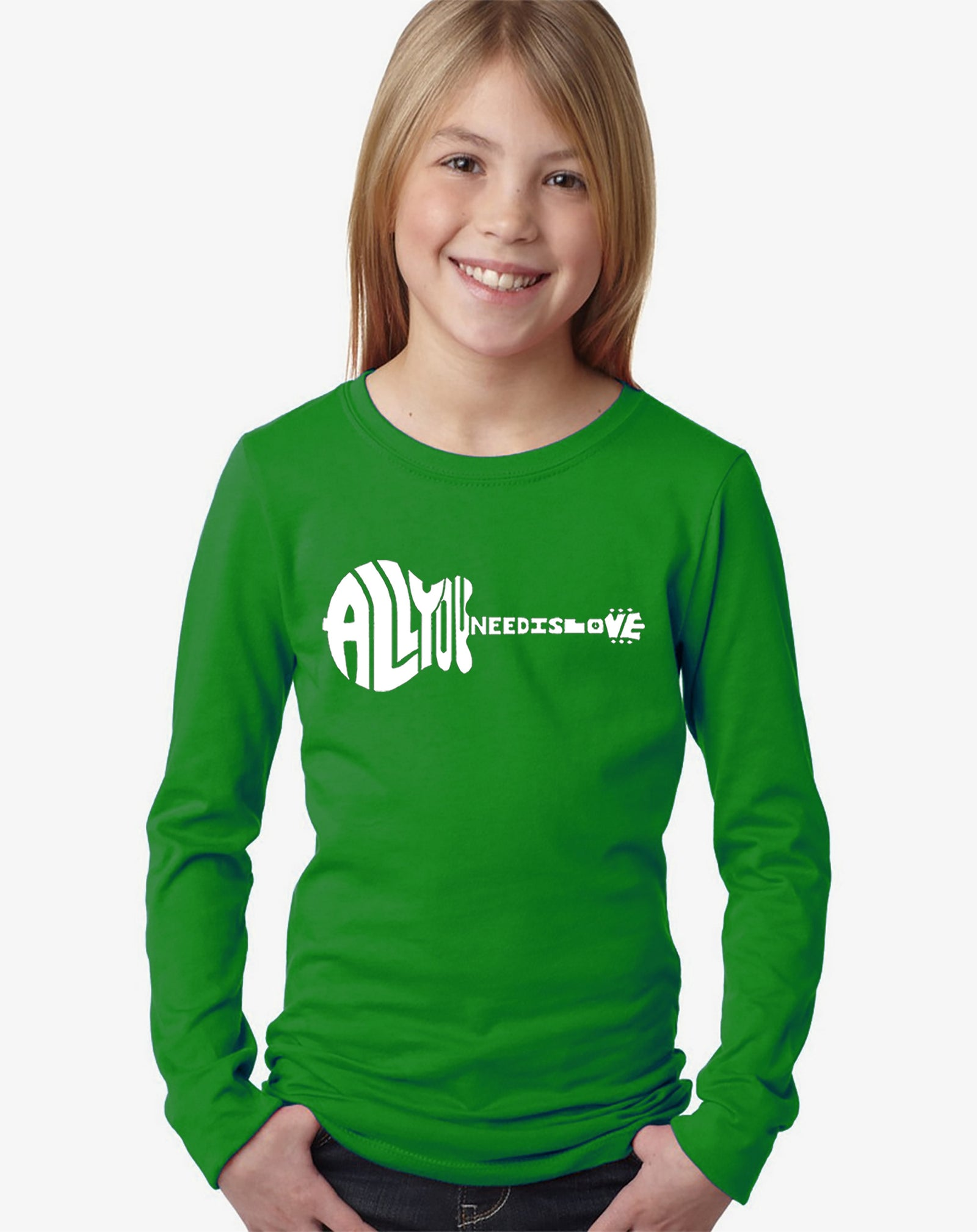 Girl's Long Sleeve - All You Need Is Love