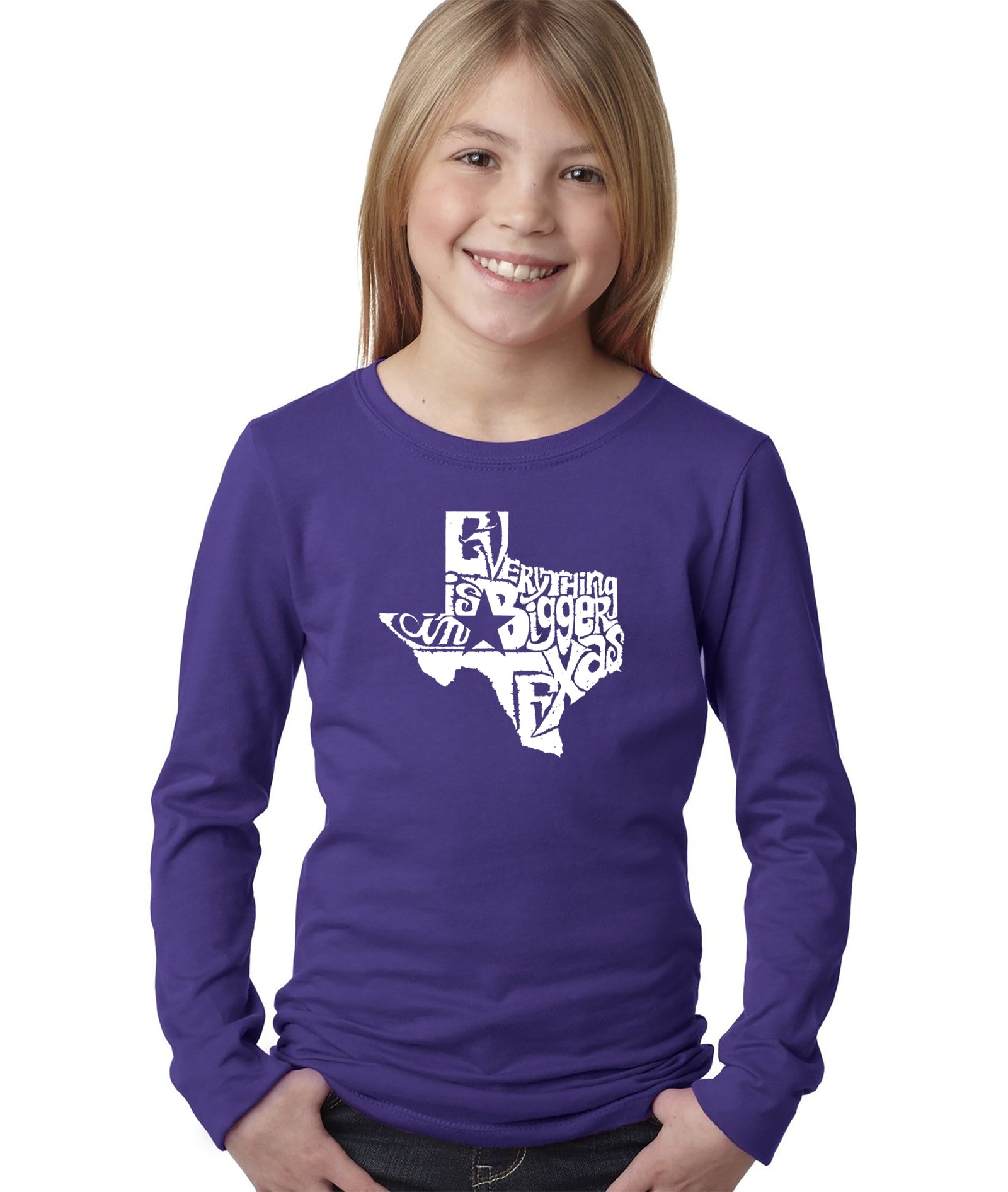 Girl's Long Sleeve - Everything is Bigger in Texas