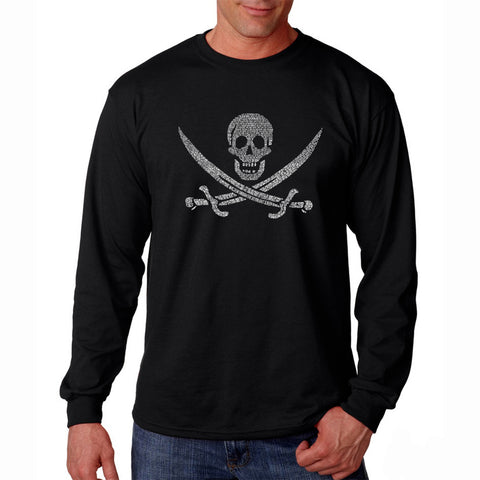 Men's Long Sleeve T-shirt - HAWAIIAN ISLAND NAMES & IMAGERY