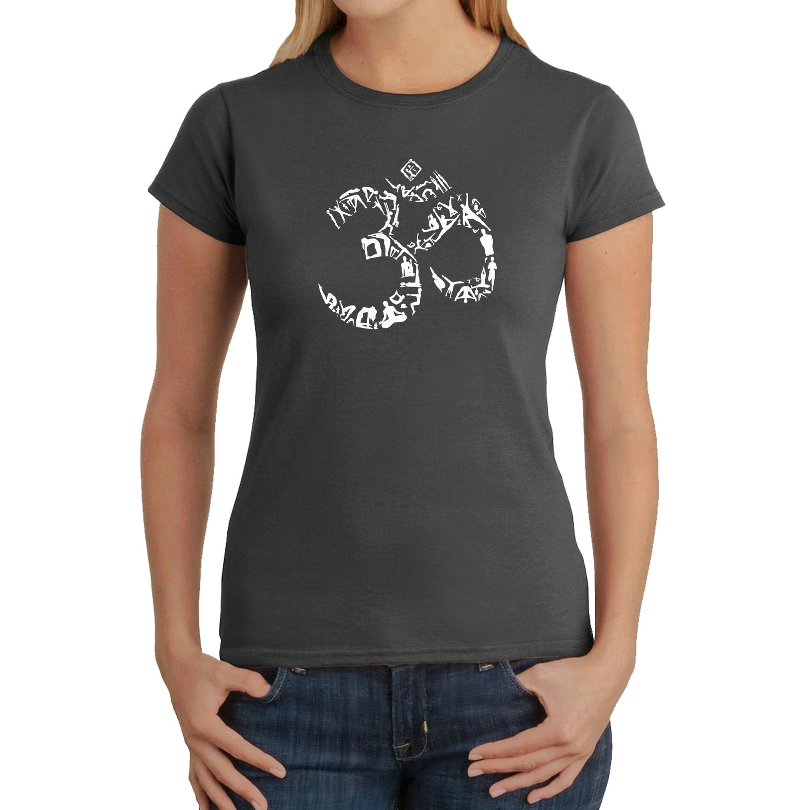 Women's T-Shirt - THE OM SYMBOL OUT OF YOGA POSES
