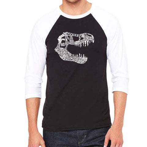 Men's Raglan Baseball Word Art T-shirt - Amazing Grace