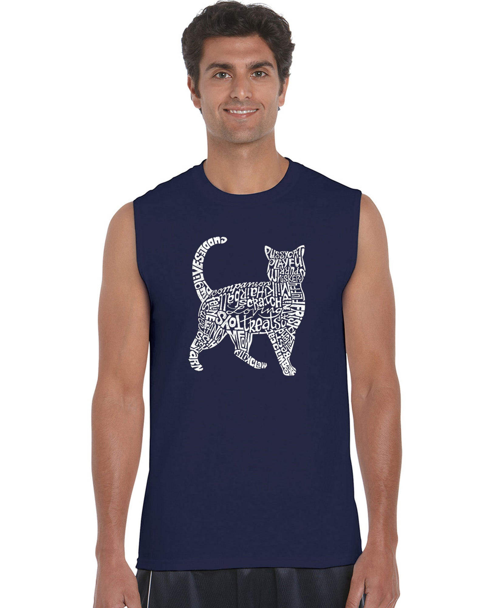 Men's Sleeveless T-shirt - Cat