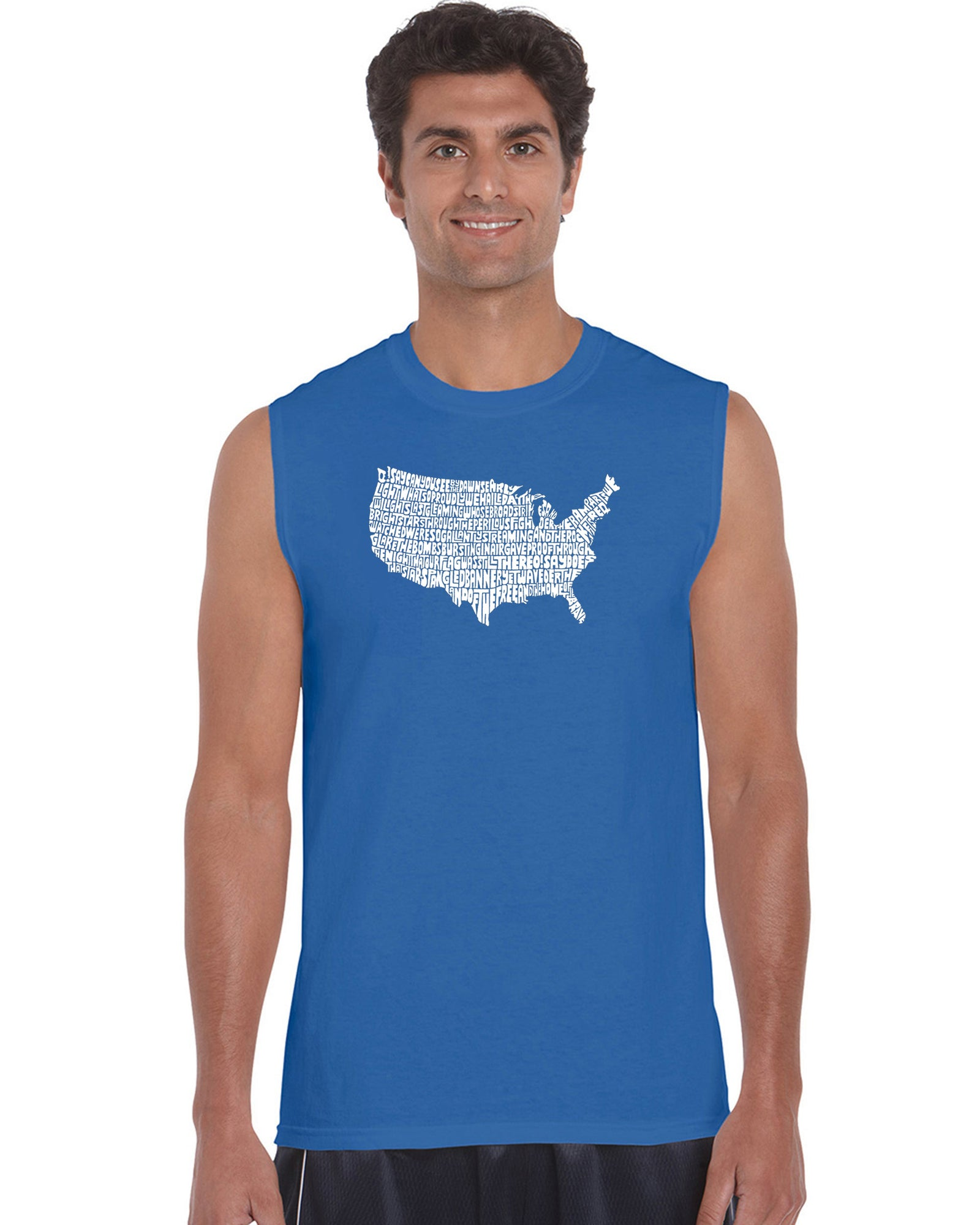 Men's Sleeveless T-shirt - THE STAR SPANGLED BANNER