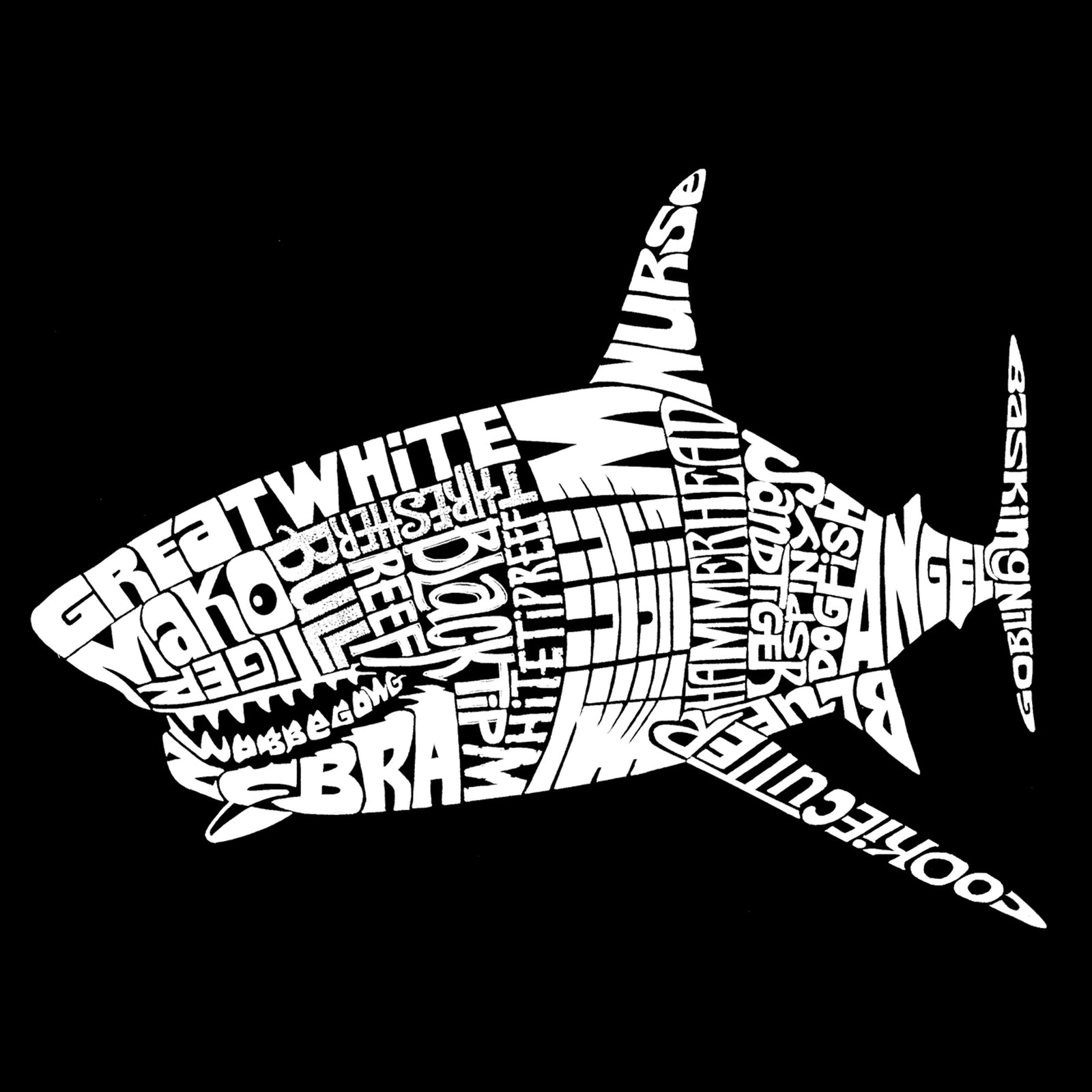 Women's Loose Fit Dolman Cut Word Art Shirt - SPECIES OF SHARK