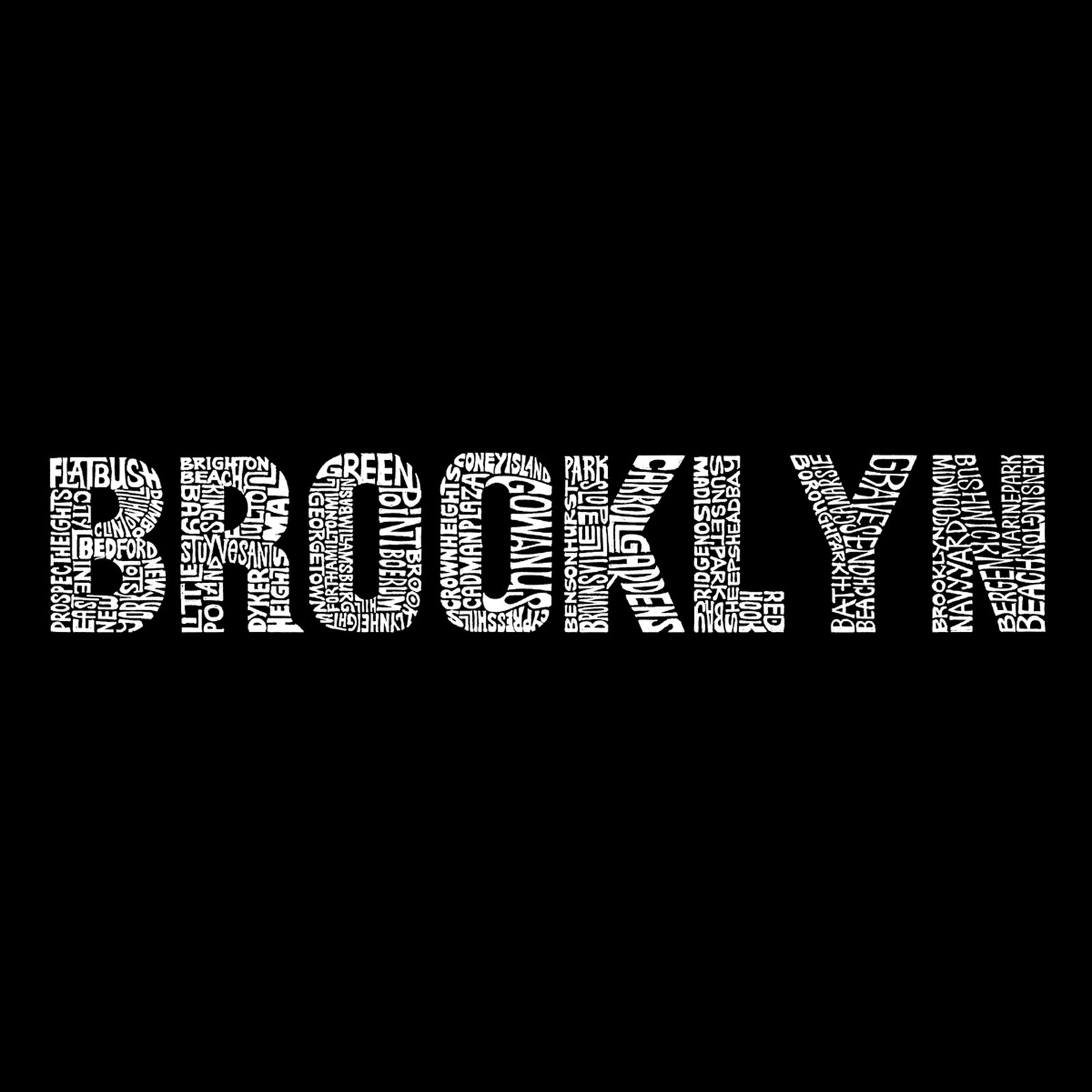 Women's V-Neck T-Shirt - BROOKLYN NEIGHBORHOODS