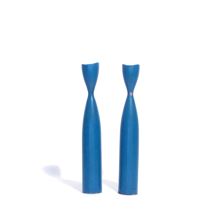 Blue Danish candle Holders (2)