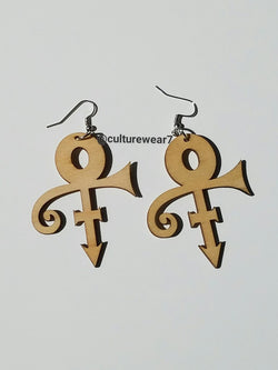Love Symbol Wooden Earrings
