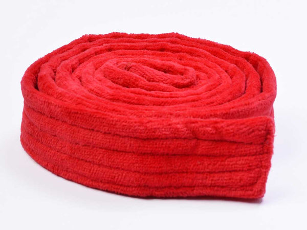 long bathrobe belt red