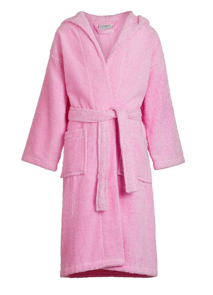 pink kids terry bathrobe