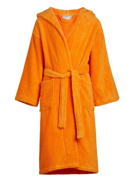 orange kids terry bathrobe