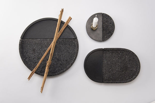 Lava rock trays - Set of 3