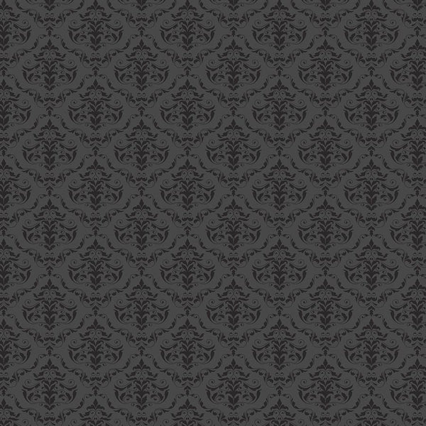 Damask Diva Photo Backdrop - Gray & Black Backdrops SoSo Creative