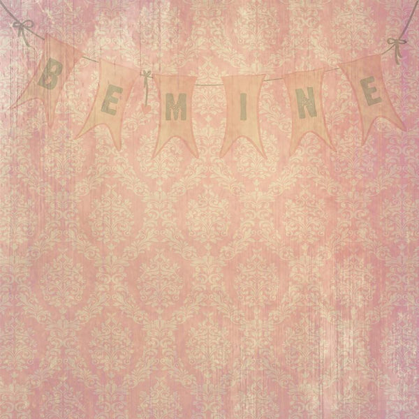 Valentine Damask Photo Backdrop - Be Mine Backdrops SoSo Creative