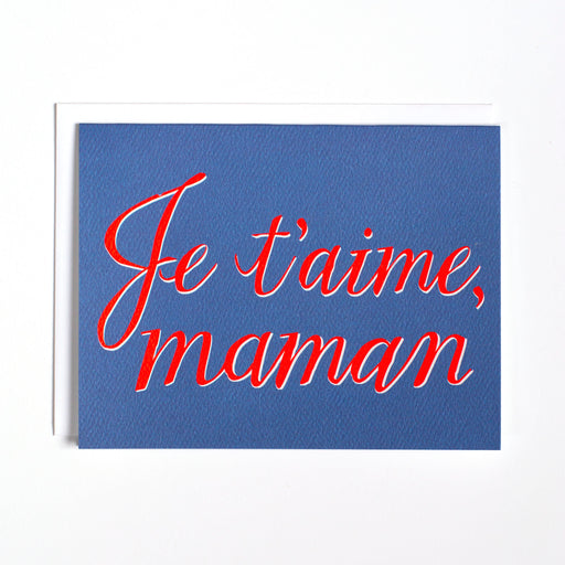 je t'aime maman/mother's day card