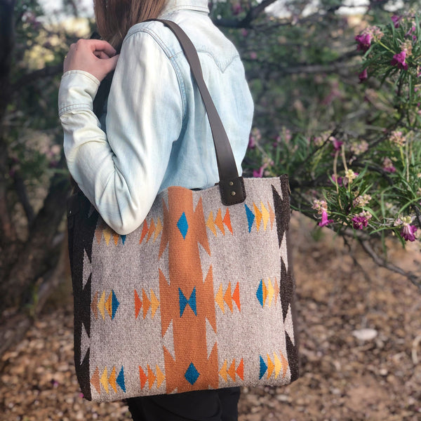 """Moving Triangles"" Tote"