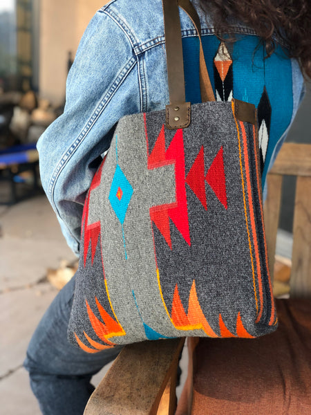 """ Colorful Grays"" Tote"