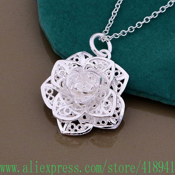 Necklace, silver-fashion jewelry
