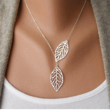 Gold Silver Plated Chain Necklace Leaf Casual Beads Long Strip Pendant