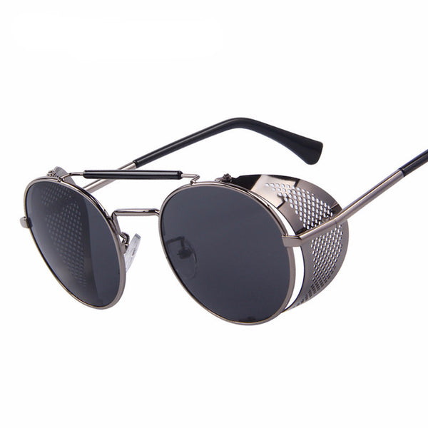 Retro Round Steampunk Sunglasses - Free Shipping - My Gothic Addiction